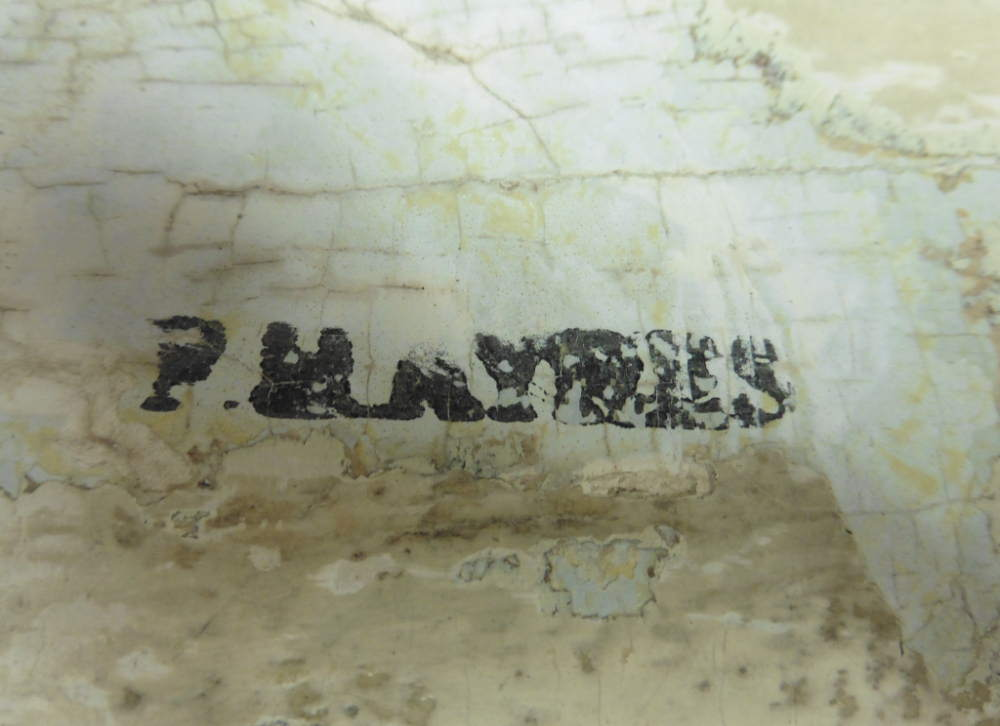 F H Ayres Stencil under belly of Rocking Horse unearthed during restoration