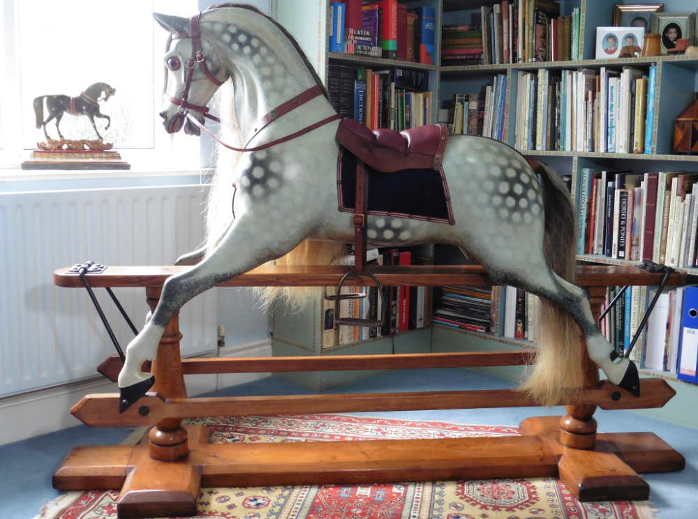 Huge Ayres Rocking Horse - Extra Carved
