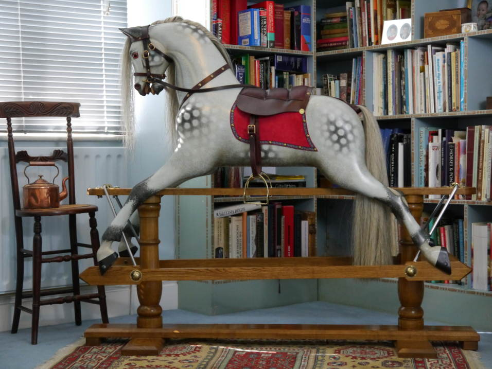 New Rocking Horse with red saddlecloth