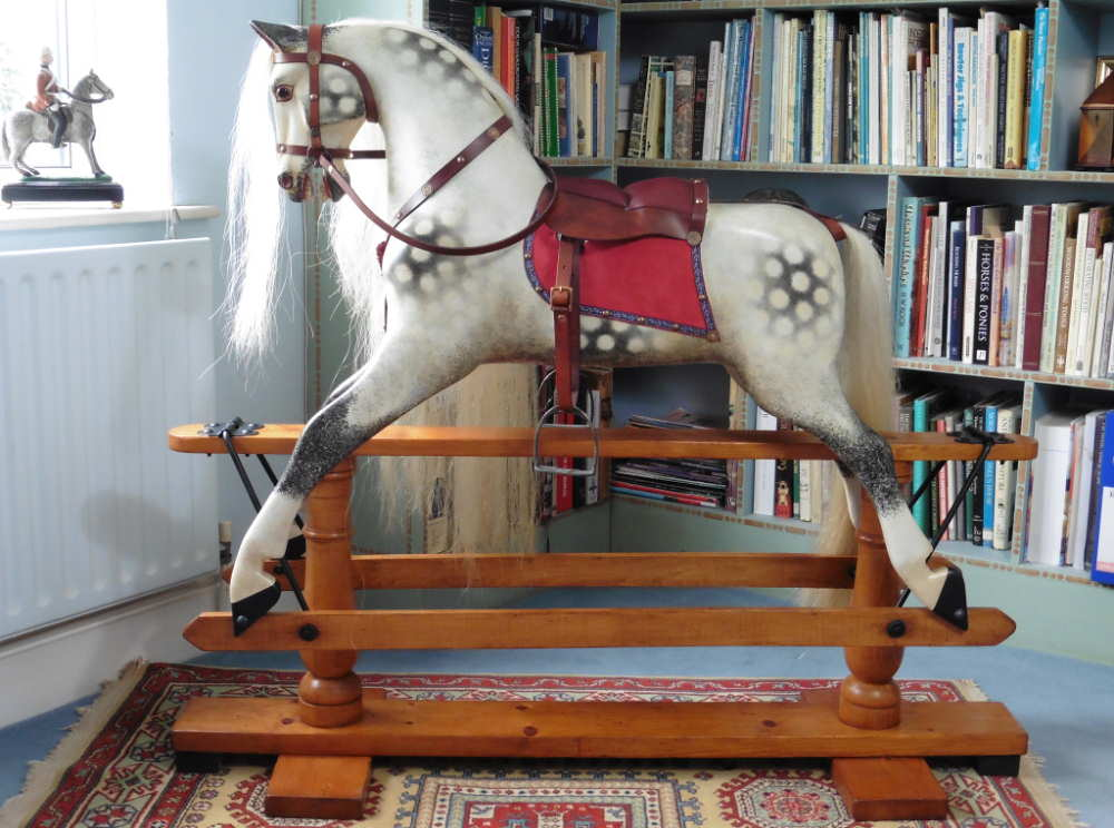 "44"" high Ayres Antique rocking horse"