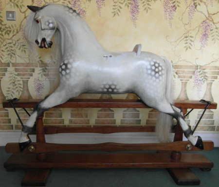 Swan Wilson Rocking Horse Restored