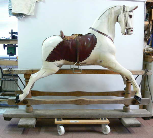 Swan Wilson Rocking Horse Unrestored